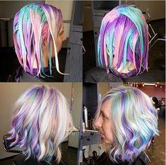 Como pintar o cabelo rainbow