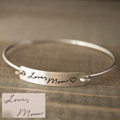 Open Latch Handwriting Bracelet
