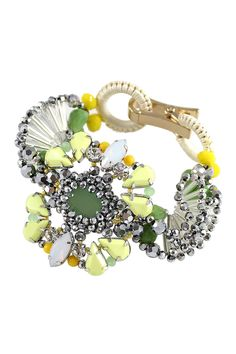 Yellow Kaleidoscope Bracelet