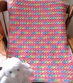 Ravelry: Block-stitch Blanket pattern by Kathy North