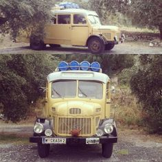 From Vienna to Kalamata. A 65 years old caravan-bus. 1/5 in Europe as the owners said. Its a kind of trouble to travel the greek roads with that. #messinia #kalamata #peloponnese #greece #travel