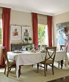 Design idea: Using coving as a pelmet - with maybe a faux Roman Shade to disguise the difference in distance from ceiling to top of window