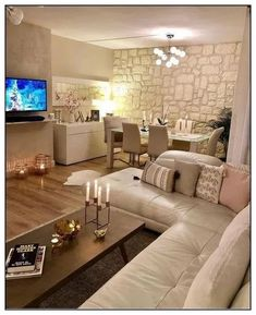 140 best small living room decoration ideas you must have - page 35 ~ Modern House Design Interior Design Living Room, Living Room Designs, Living Room Decor, Bedroom Decor, New Interior Design, Living Room Color Schemes, Colour Schemes, Elegant Living Room, Home Decor Store