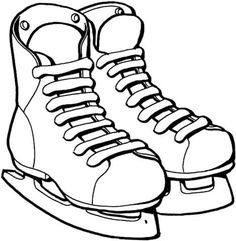 Ice Skate Coloring Page Unique Shoes Ice Skating Coloring Page Ice Skating