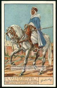 Horsemen - North African Arab NICE 1930s Card