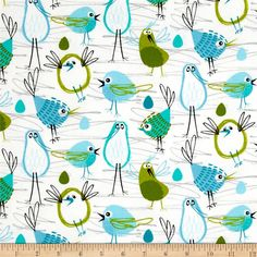 Michael Miller Flannel Robin In The Hood Aqua from From Michael Miller, this double napped (brushed on both sides) flannel print fabric is perfect for quilting and apparel. Colors include blue, white, green, and grey. Tissu Michael Miller, Michael Miller Fabric, Glitter Critters, Robin, Gift Wrapper, Shops, Fabulous Fabrics, Cool Diy Projects, Fabric Patterns