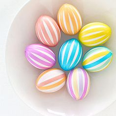 stripe easter, decorating easter eggs, tape egg, decorating ideas, easter crafts, egg decorating, masking tape, mask tape, easter ideas