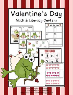Valentine's Day Math and Literacy Centers