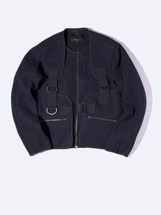 Para Strap Zip Up Jacket