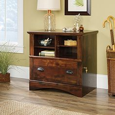 Looking to add some convenient storage to your home? Check out this lateral file from the Harbor View collection. It features cubbyhole storage with two adjustable shelves giving you room for all your books, papers, and office supplies. Keep important documents safe with the locking drawer that... more details available at https://furniture.bestselleroutlets.com/home-office-furniture/file-cabinets/lateral-file-cabinets/product-review-for-sauder-harbor-view-lateral-file-in-cur
