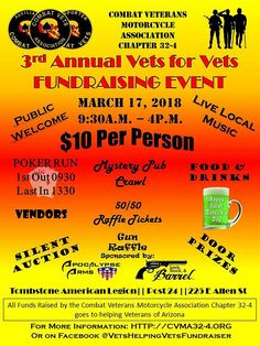Soldier Love, Poker Run, Disabled Veterans, Motorcycle Events, Local Music, Fundraising Events, Charity, Arizona, Biker