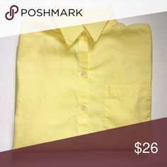 Ralph Lauren Yellow Long Sleeve Button Down Flawless condition top! Solid lemon yellow. Perfect for spring and summer. Offers are welcome. Lauren Ralph Lauren Tops Button Down Shirts