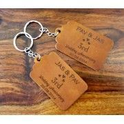 Leather Luggage Tags or Keyrings - 3rd Wedding Anniversary gift