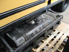 Converted vegetable oil tank for school bus by GreenMyFleet, via Flickr
