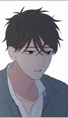 Here u Are Manhwa Anime Boy Crying, Sad Anime, Manga Anime, Anime Triste, Manga Boy, Anime Pixel Art, Anime Art, Cute Anime Guys, Anime Boys
