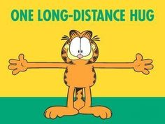 Garfield and long distance hug Hug Quotes, Snoopy Quotes, Funny Quotes, Hugs And Kisses Quotes, Qoutes, Hug Pictures, Hello Pictures, Thinking Of You Quotes, Garfield And Odie