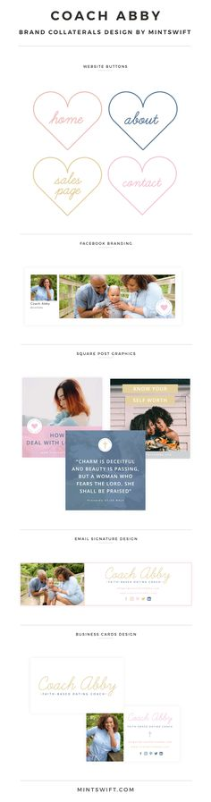 new Ideas for style guides brand colour palettes Collateral Design, Brand Identity Design, Branding Design, Logo Design, Web Design Packages, Brand Style Guide, Business Card Design, Business Cards, Signature Design