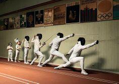 Fencing evolution. Compostela Esgrima shared Enrica Eren Angiolini's photo on Facebook.
