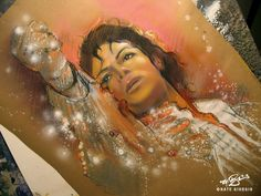 Art with Soul - Colors - Nate Giorgio artwork Michael Jackson Art, Michael Love, Michael Art, Sidewalk Chalk Art, Art Inspiration Drawing, Celebrity Drawings, Jackson Family, King Of Music, Most Beautiful Man