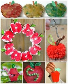 MORE Apple fun! Here are 20 of the best apple crafts from around the web. Lots of ideas to keep you busy! We do love a good Apple Craft to celebrate Fall. Autumn Crafts, Fall Crafts For Kids, Toddler Crafts, Art For Kids, Apple Activities, Autumn Activities, Craft Activities For Kids, Craft Ideas, Diy Ideas
