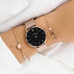 Minuit Mesh Rose Gold Black/Rose gold- Minuit Mesh Rose Gold Black/Rose gold Best watches for women bertramsaunderson Beautiful women watches Minuit Mesh Rose Gold/Black Best watche Diamond Bracelets, Silver Bracelets, Silver Ring, Bangle Bracelet, Bracelet Charms, Gold Necklaces, Silver Earrings, Gold Armband, Gold Watches Women