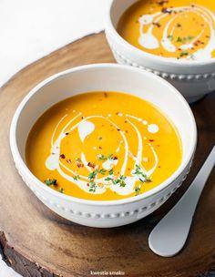 Zupa z dyni z masłem orzechowym Ketogenic Recipes, Keto Recipes, Healthy Recipes, Healthy Food, Vegan Cake, Vegan Desserts, Vegan Gains, Keto Results, Best Soup Recipes