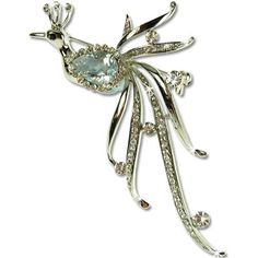 "Swarovski & Czech crystals large Stylized Royal Peacock Bird Brooch Pin, Art Deco design Exclusive crystal jewellery. One of a kind and exclusive Janeo design, Haute Couture inspired Designer Brooch. A very special gift; exclusive brooches jewellery as worn by Royals and Celebrities ! 2 colour options; Topaz on Gold and Clear Diamond On Rhodium; Choose colour option in ""Metal Type"" drop box below. Janeo Brooches & Pins http://www.amazon.com/dp/B00B72ZVQI/ref=cm_sw_r_pi_dp_Jorcub0ZNCDQG"