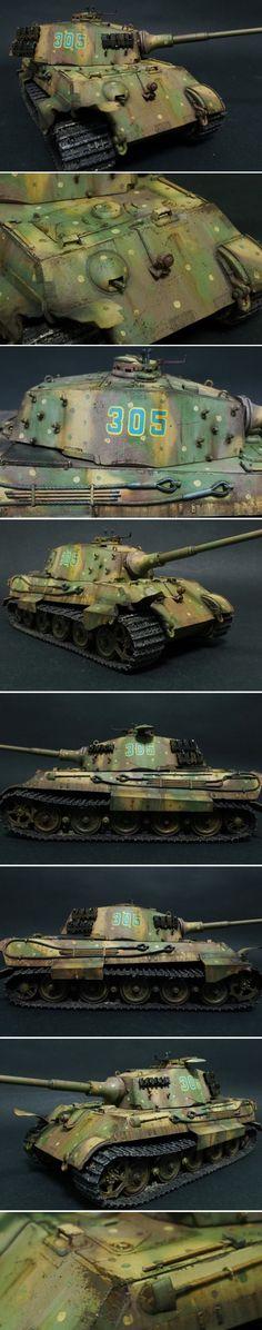 A Tiger II/Königstiger heavy tank | The Plastic Figure World