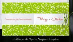 """Mercante di Sogni - Voghera - Bomboniere e Stampati dal 1969 - Vendita ai privati: 12/13/14  Collezione LAURA-NZ-20 - LC17+LP17  """"FLOREALE FINESTRA"""" Personalizzabile  Partecipazione nozze chiusa 21x10,5  Read more: http://mercantedisognivoghera.blogspot.com/2014_12_13_archive.html#ixzz3MMd1B28L"""