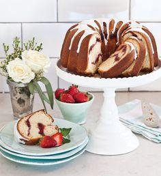 Strawberry Swirl Pound Cake - Celebrate Magazine