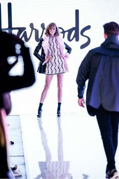 The wonderful Karlie Kloss on the Harrods Live catwalk at the 2014 Vogue Festival. #HarrodsLive