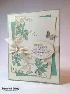 Stamp Sets: World of Dreams, Love and Sympathy. Stampin' Up. Stamp with Sandy. The paper players Making Greeting Cards, Greeting Cards Handmade, With Sympathy Cards, Butterfly Cards, Flower Cards, Simple Butterfly, Stampin Up, Stamping Up Cards, Get Well Cards