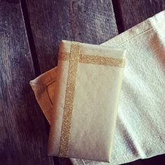 glitter napkins (or any textile, really)