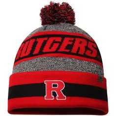 c789d005f Men s Top of the World Charcoal Rutgers Scarlet Knights Cumulus Pom Knit Hat  Hat Stores