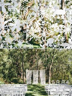 Tord Boontje laser cute ceremony backdrop | Mullers Photo |100 Layer Cake