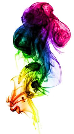 rainbow ink drops
