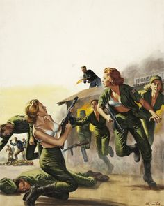 Mort Kunstler cover painting FOR MEN ONLY Oct 1962