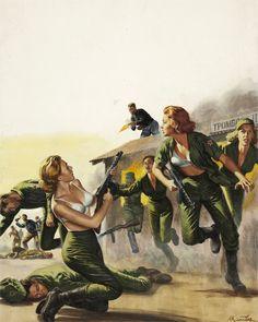 Mort Kunstler cover painting FOR MEN ONLY Oct 1962