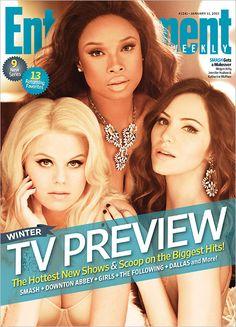 #Smash's Megan Hilty, Jennifer Hudson & Katharine McPhee on the cover of Entertainment Weekly