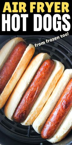 This is the best way to cook air fryer hot dogs! This recipe will save you so much time in the kitchen and i promise you will love it. In this post you will find Air Fryer Hot Dog Recipe, Air Fryer Oven Recipes, Air Fryer Dinner Recipes, Oven Hot Dogs, Instant Pot, Fried Hot Dogs, Making Hot Dogs, Cooks Air Fryer, Best Air Fryers