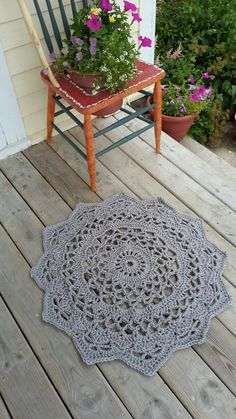 Crochet Doily Rug, , French Country Lace Round Rug, Home Decor Accent Rug, Cottage,  Lake House, shabby chic, nursery via Etsy