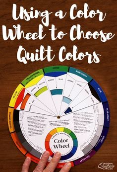 Quilter and colorist Heather Thomas shares some helpful tips and tricks to consider when choosing quilt colors for your next quilt project. By using a color wheel you can mix and match colors to se… Quilting Tips, Quilting Tutorials, Quilting Projects, Quilting Rulers, Quilting Fabric, Hand Quilting, Sewing Hacks, Sewing Tips, Sewing Tutorials