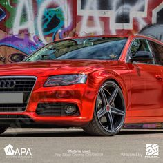 The amazing total wrapping with Red Gloss Chrome (CH/S99.31). Photos by Andre Gerk #apastickers #apafilms #apafolie #apavinyl #chromevinyl #carfoil #chrome #carwrap #carwrapping #selfadhesive #glosschrome #redchrome #ilw #ilovewrapping