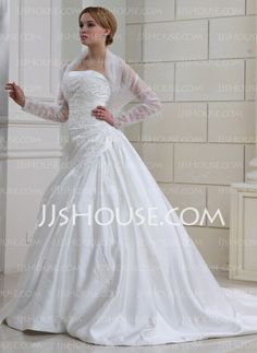 Jackets/Wraps Wedding Tulle Ruffles Wraps With Long Sleeve (013022585)