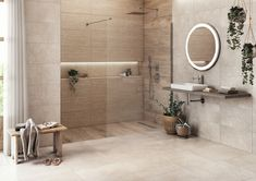 Bad Inspiration, Bathroom Inspiration, Beige Bathroom, Master Bathroom, Large Tile Bathroom, Modern Bathroom Design, Bathroom Interior Design, Washbasin Design, Casa Patio
