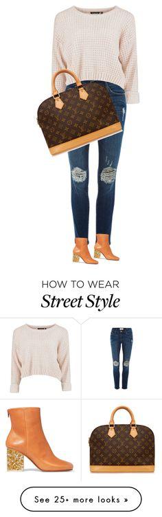 """street style"" by ecem1 on Polyvore featuring Frame Denim, Maison Margiela, Louis Vuitton, women's clothing, women's fashion, women, female, woman, misses and juniors"