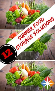 What's the best way to store your favorite summer foods? From garden to picnic, we pick the 12 best solutions for summer food storage.
