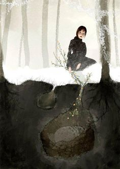 Barbara+Bargiggia - dreamscape - underground sanctuary - bright woods - girl