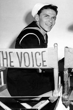Frank Sinatra on the set of Anchors Aweigh (1945)