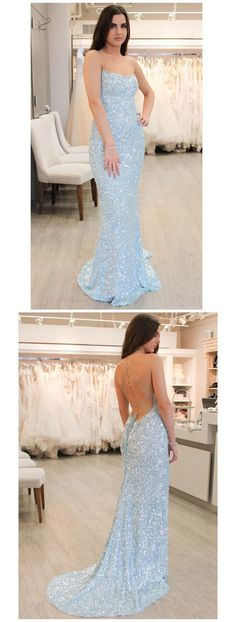 Unique Prom Dresses, Sky Blue Mermaid Sequin Graduation Dresses Spaghetti Strap Backless Evening Ball Gown, There are long prom gowns and knee-length 2020 prom dresses in this collection that create an elegant and glamorous look Baby Blue Prom Dresses, Blue Mermaid Prom Dress, Straps Prom Dresses, Sequin Prom Dresses, High Low Prom Dresses, Unique Prom Dresses, Long Prom Gowns, Gala Dresses, Backless Prom Dresses